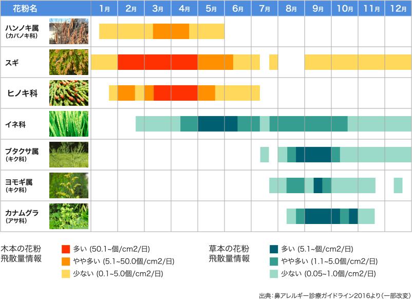 スギ 花粉 時期 花粉症の時期、いつからいつまで?地域別花粉カレンダー